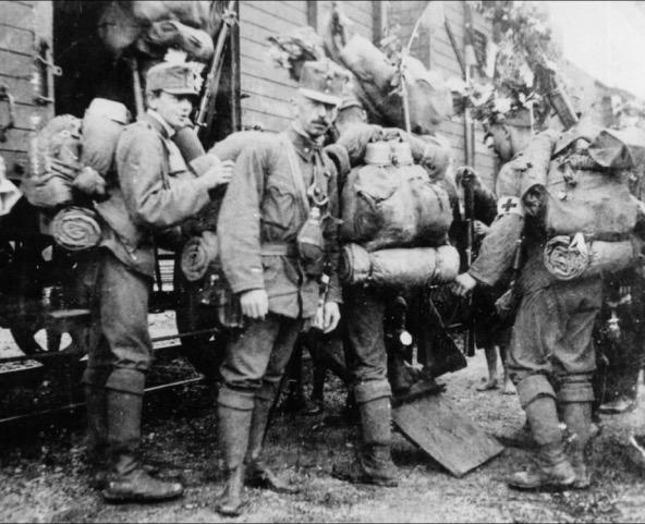 Die Einwagonnierung der OÖ Schützen in Linz