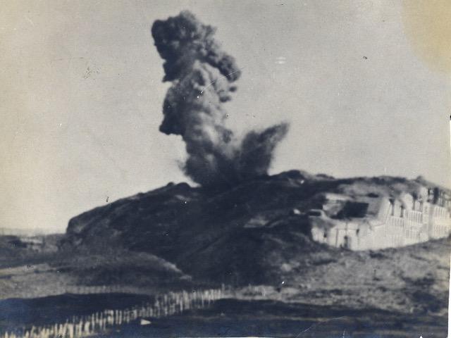 Das zerschossene und immer noch nicht eingenommene Werk Verle auf der Hochfläche von Folgaria-Lavarone